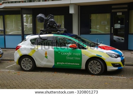 ROTTERDAM, THE NETHERLANDS -  SEPTEMBER 17: Google Street View camera car in Rotterdam, 17th of September, 2015. - stock photo