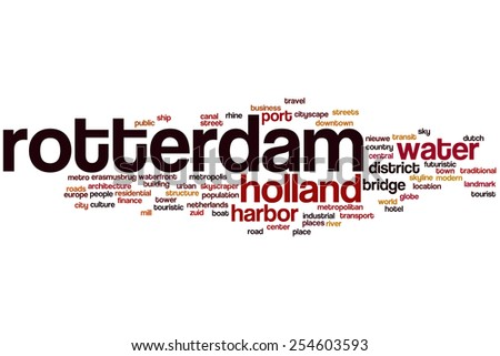 Rotterdam word cloud concept - stock photo