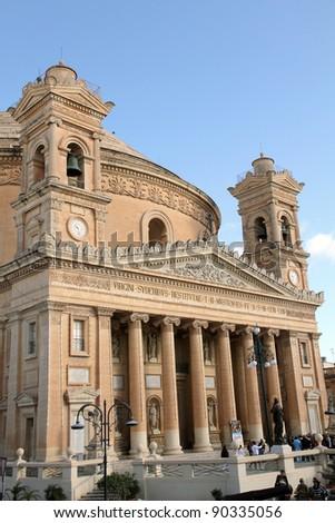 Rotunda Santa Marija Assunta church, Mosta, Malta, Europe - stock photo