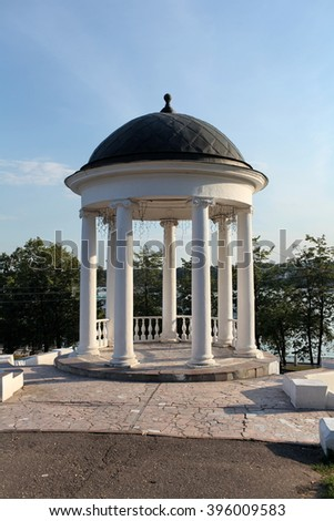 rotunda under blue sky - stock photo