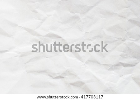 Rough crumpled paper texture Gray and white background - stock photo