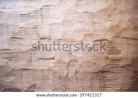 rough cut wood background - stock photo