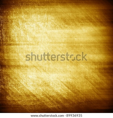 rough gold plate - stock photo