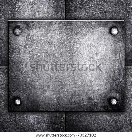 rough iron template - stock photo