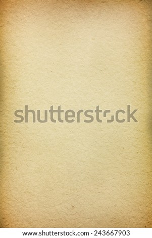 Rough old paper texture with vignetting borders - stock photo