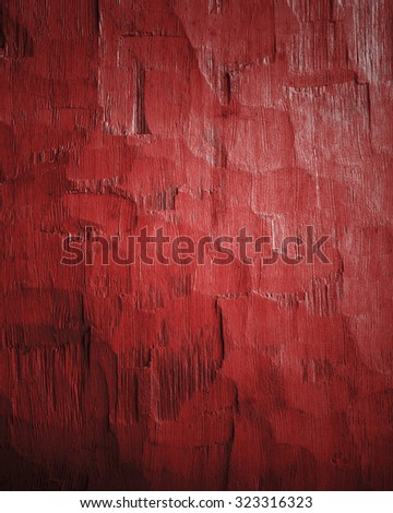 rough red wood background with light effects - stock photo