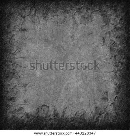 Rough textured square with cracks (photoshop illustration) - stock photo
