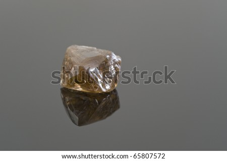 Uncut And Unpolished Diamonds Rough Uncut Brown Diamond on a