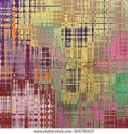 Rough vintage texture. With different color patterns: yellow (beige); brown; green; purple (violet); pink - stock photo