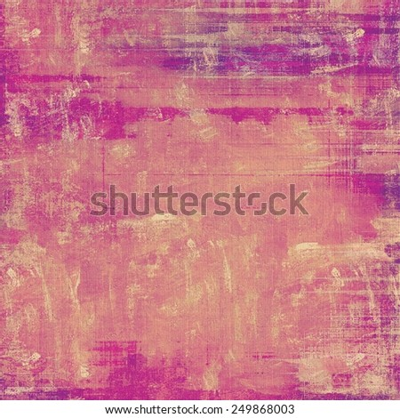 Rough vintage texture. With different color patterns: yellow (beige); purple (violet); pink - stock photo