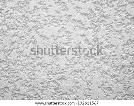 Rough white plaster walls - stock photo