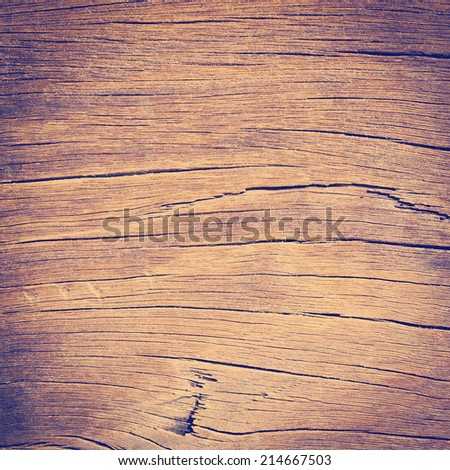 Rough wood texture with lines and creases - stock photo