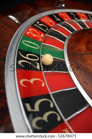 Roulette in the casino - stock photo