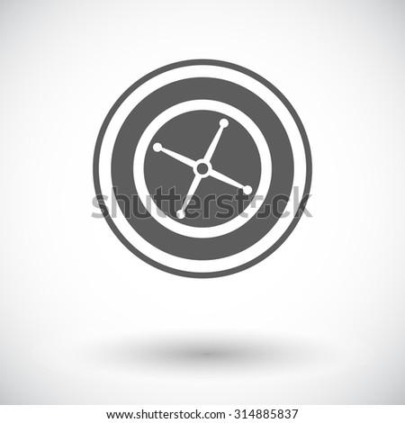 Roulette. Single flat icon on white background.  illustration. - stock photo