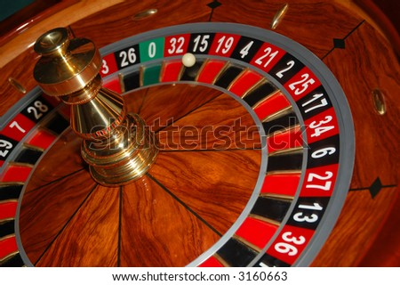 Roulette table in action. Shot from a real casino 4 - stock photo