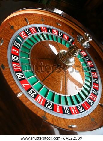 roulette wheel - stock photo