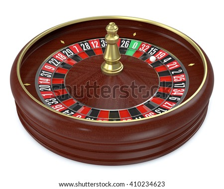 roulette wheel on white background (3d render) - stock photo
