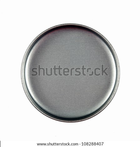 Round aluminum metal cover - stock photo
