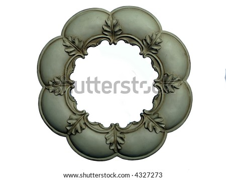 Round antique picture frame - stock photo