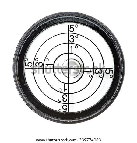 round buble level on white background - stock photo