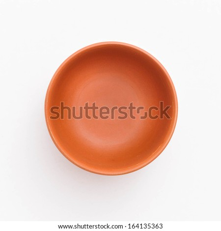 Round clay cup - stock photo