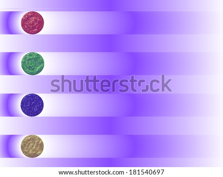 round colored shape in circular abstract illustration - stock photo