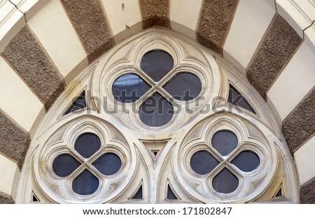 round decorative window - stock photo