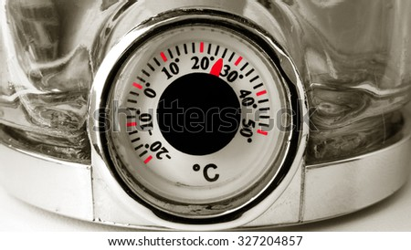 Round Dial Home Thermostat  - stock photo
