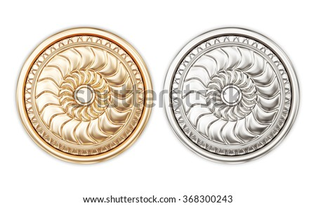 Round door handles isolated on white background. 3d rendering. - stock photo