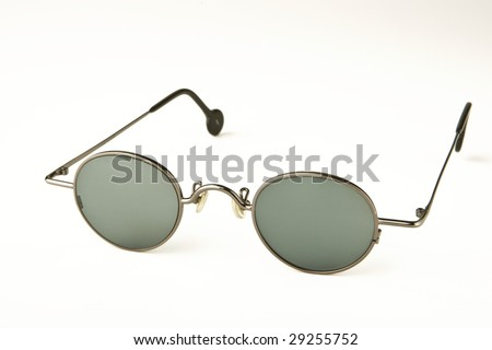round glasses - stock photo