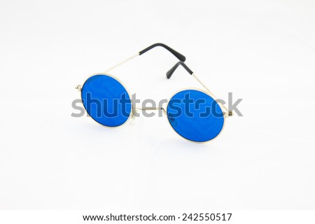 Round glasses spectacles - stock photo