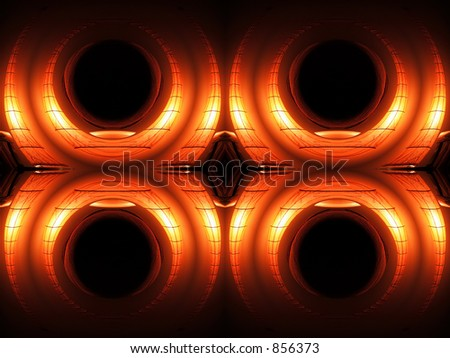 Round light - abstract - stock photo