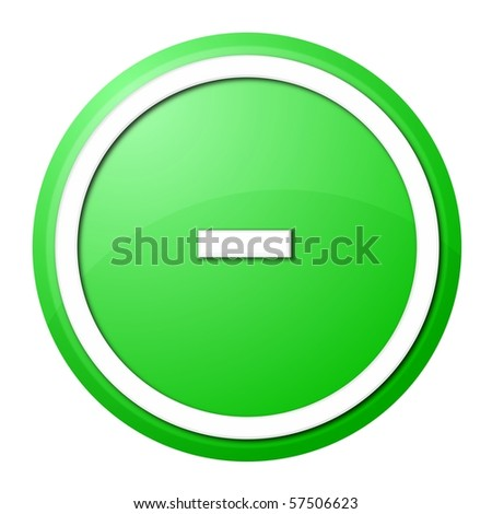 round minus button with white ring for web design and presentation - stock photo