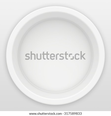 Round Niche in the wall for presentation of goods. 3d render. - stock photo