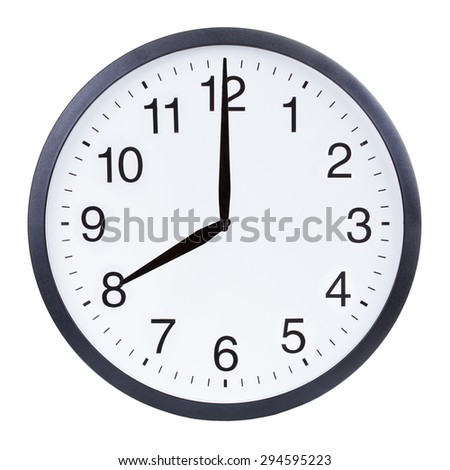 Clock Showing 10 O'clock Showing Eight O'clock