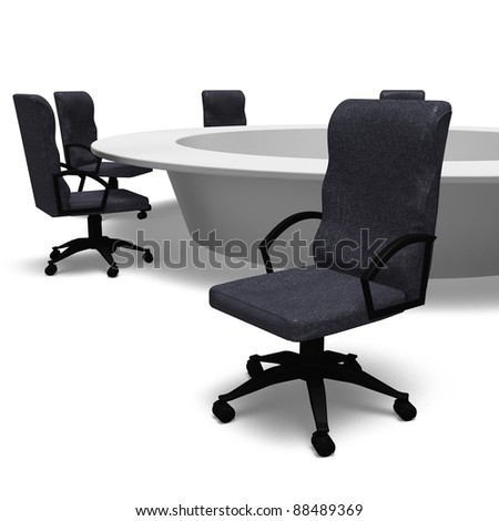 round table Conference - stock photo
