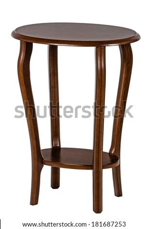 Round table, isolated on white background - stock photo