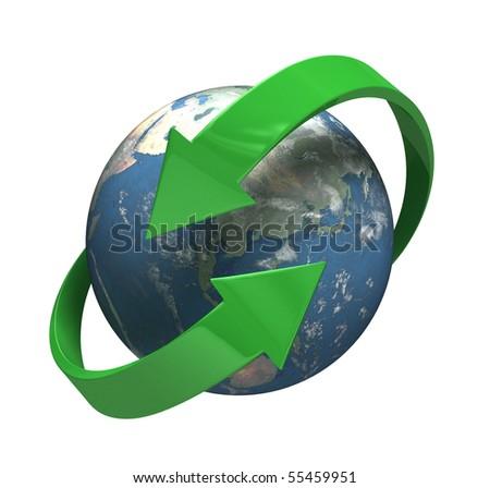 Round the Globe - [isolated on white background] - stock photo