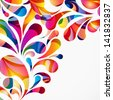 Rounded colorful arc drops. Decorative abstract background. - stock photo
