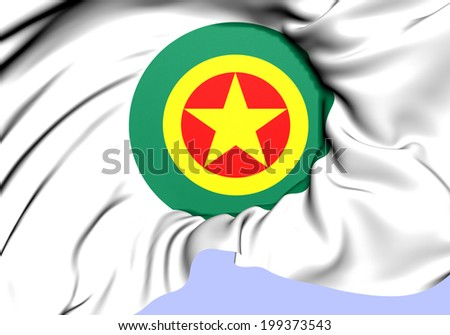 Roundel of Ethiopia. Close Up.    - stock photo