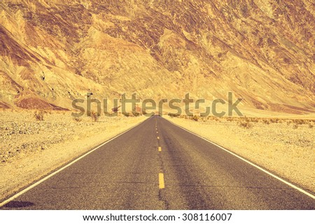 Route 66, Death Valley - stock photo