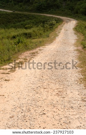 Route in rural,Vietnam. - stock photo