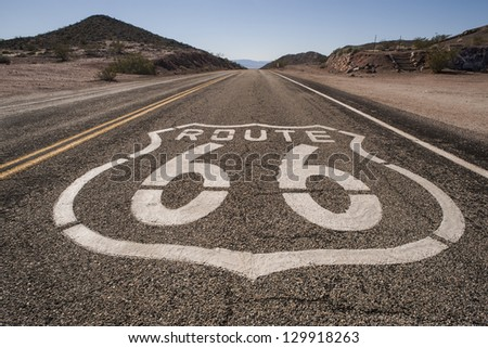 route 66 mojave - stock photo
