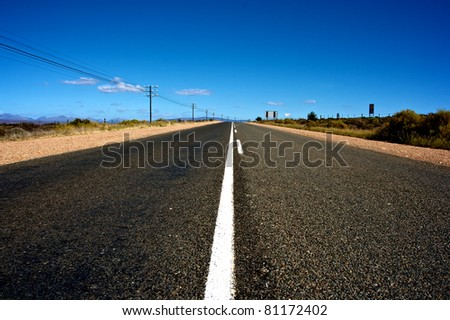 Route 62, South Africa - stock photo