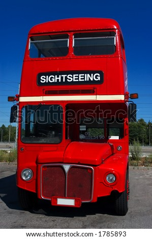 routemaster bus - stock photo