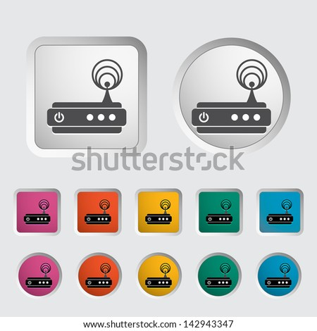 Router single icon. Vector version also available in my portfolio. - stock photo