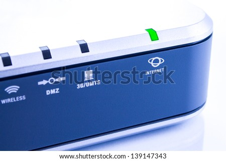 Router with Internet access - stock photo