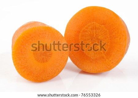 row carrot - stock photo
