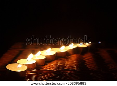 Row of candles - stock photo