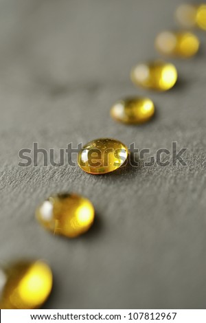 Row of caramel drops - stock photo